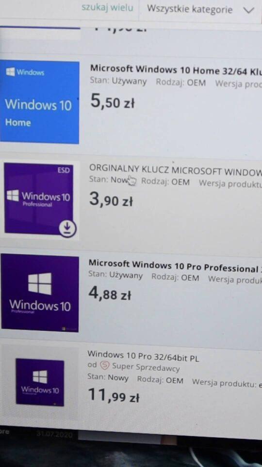 Tani Windows z Allegro