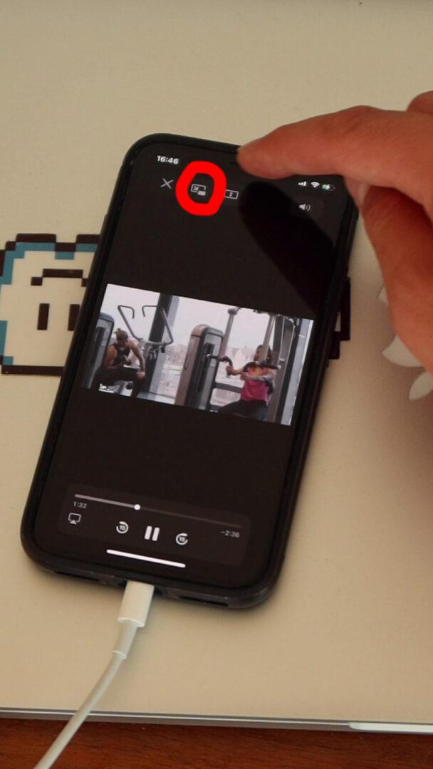 jak włączyć obraz w obrazie iphone