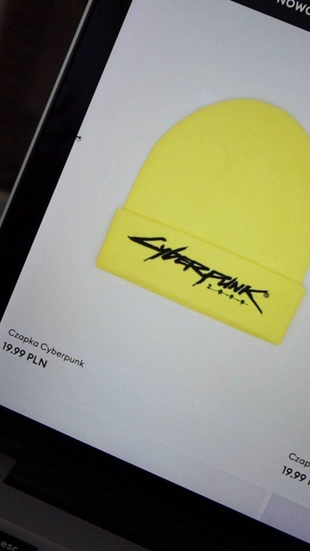 czapka Cyberpunk 2077 żółta