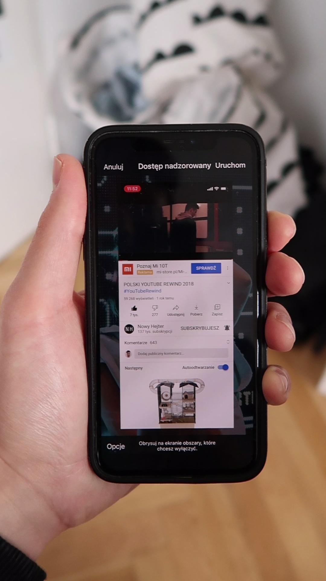 dostęp nadzorowany iphone