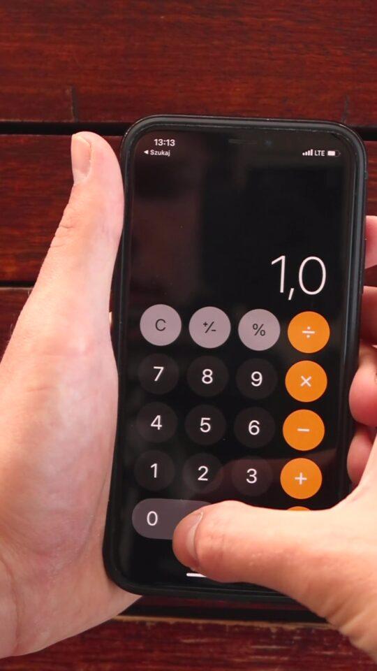 kalkulator iphone nie działa