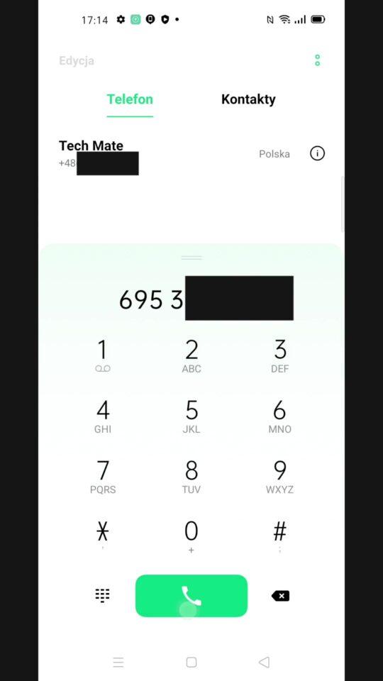 Szybkie wybieranie numery telefonu Android