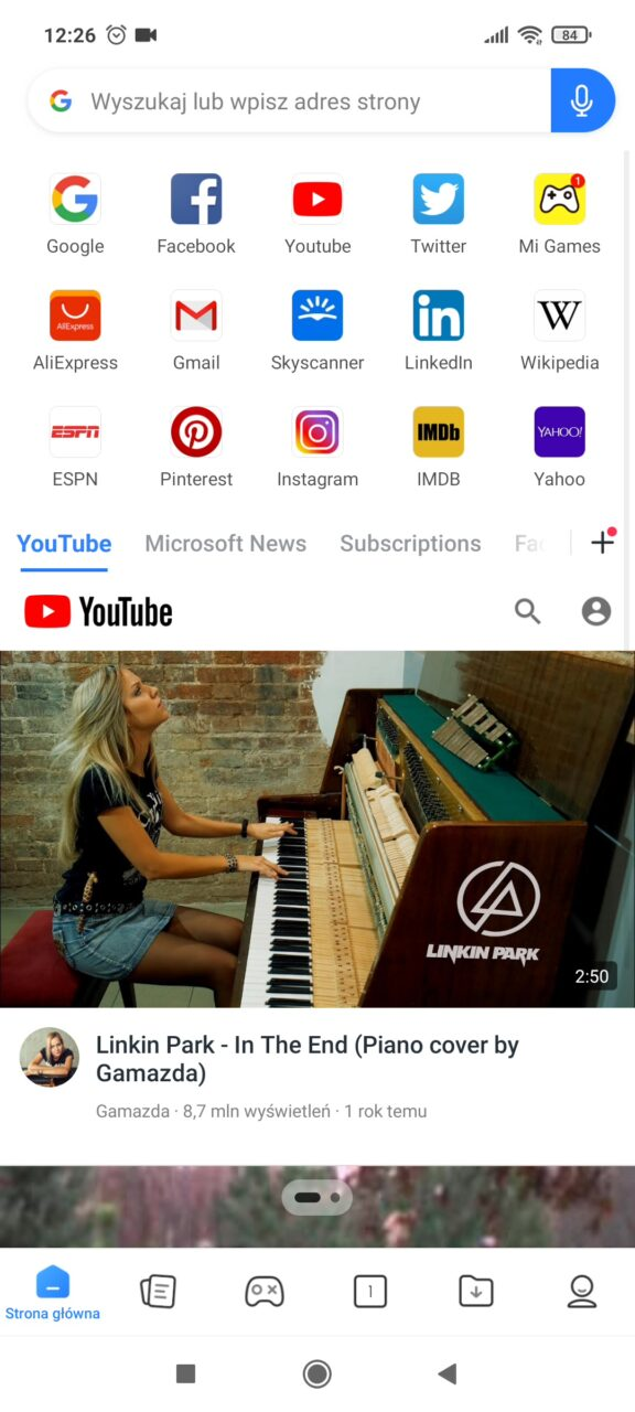 Przeglądarka internetowa xiaomi reklamy