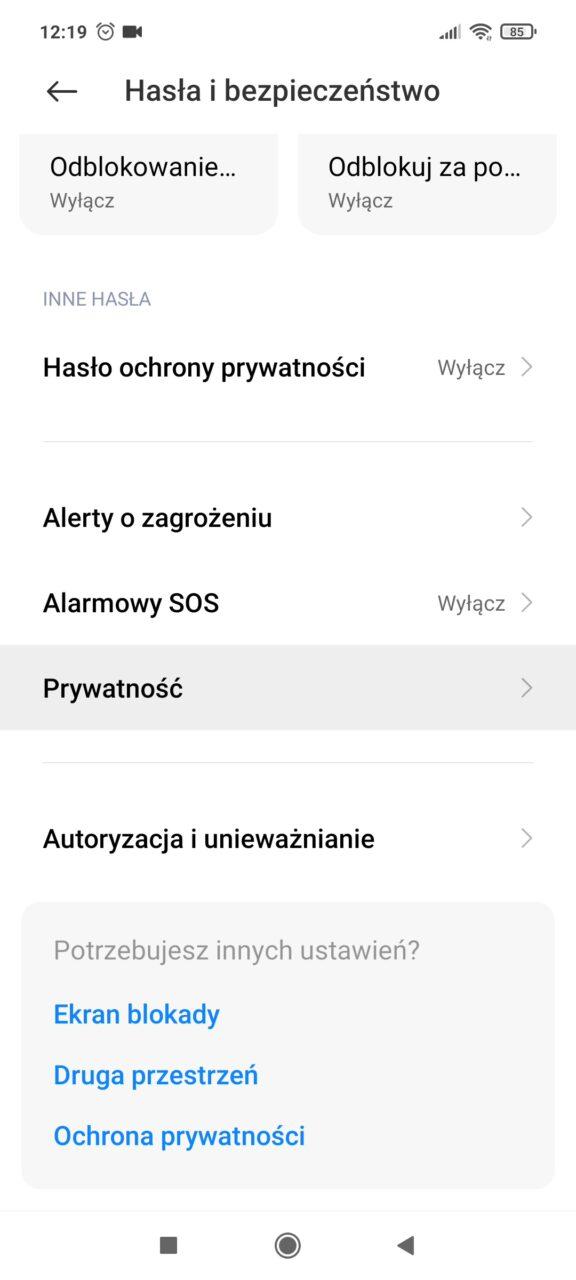 Xiaomi prywatność