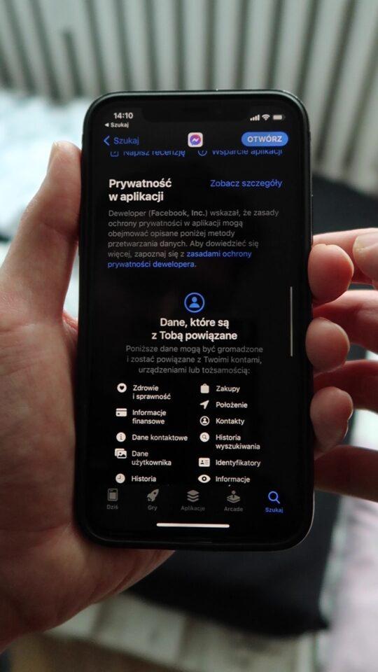 Prywatność aplikacji iphone