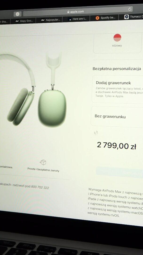 AirPods Max cena