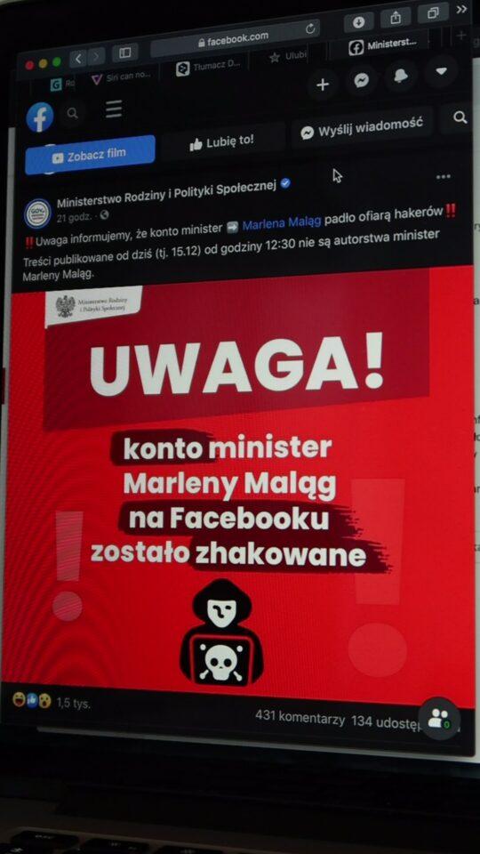 Atak hakerski na ministerstwo