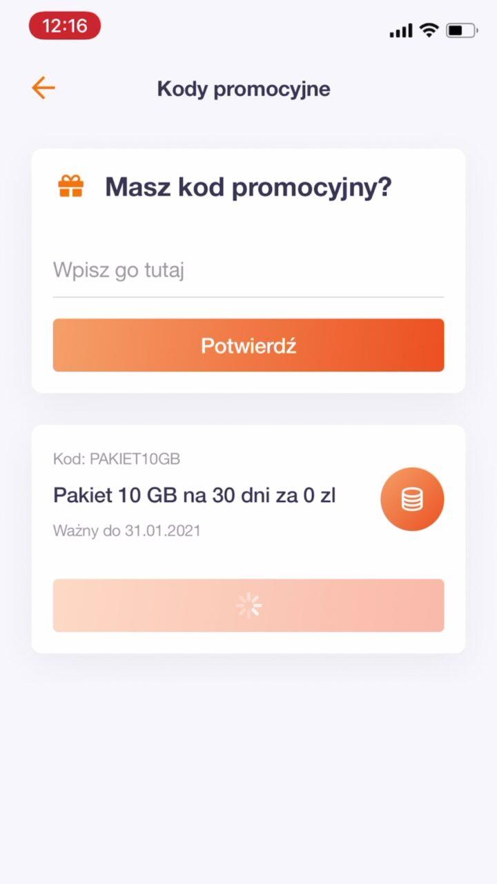 darmowy internet kod orange flex