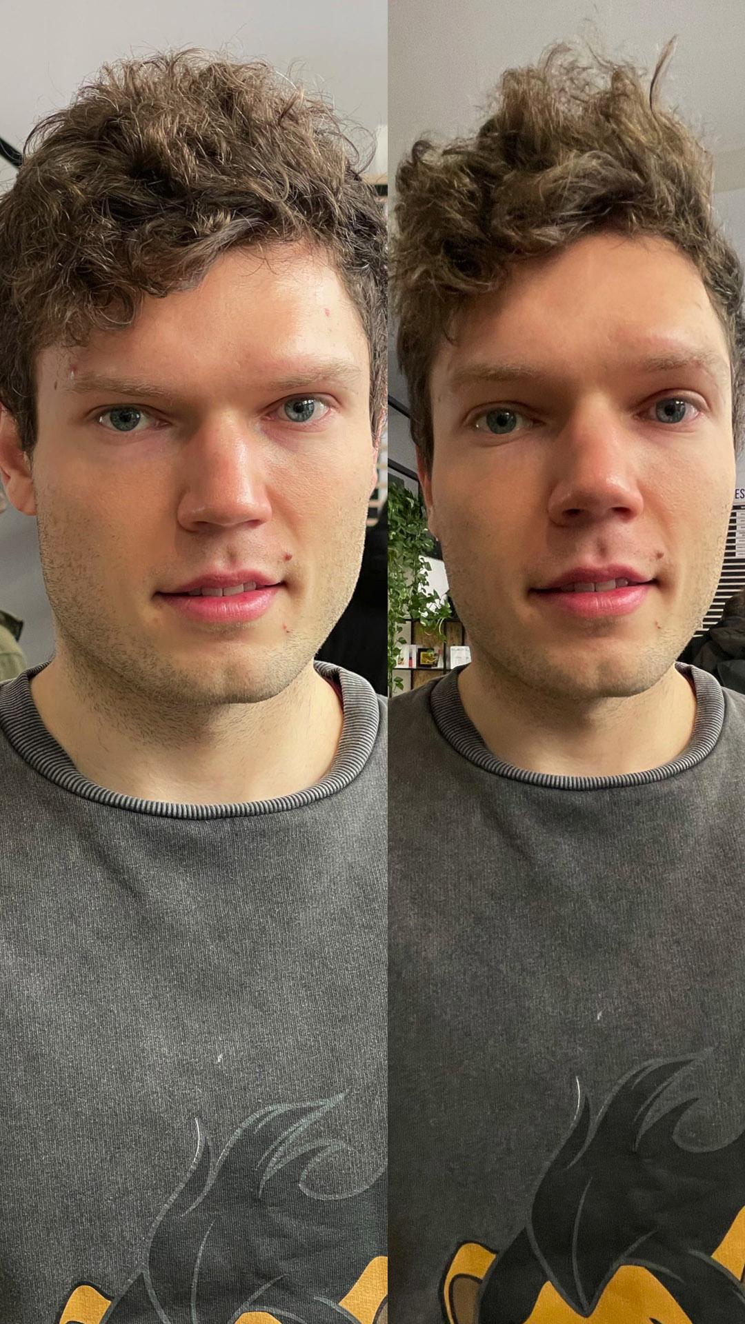 zmiana wyglądu twarzy w aparatach telefonu