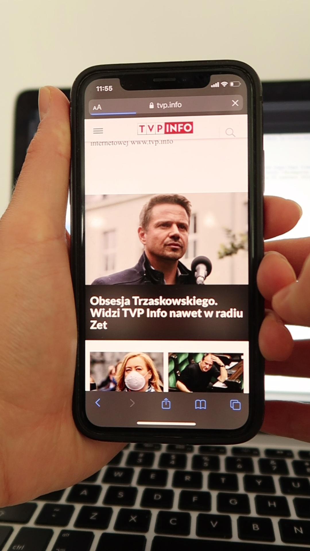 TVP Info przesuwająca się strona