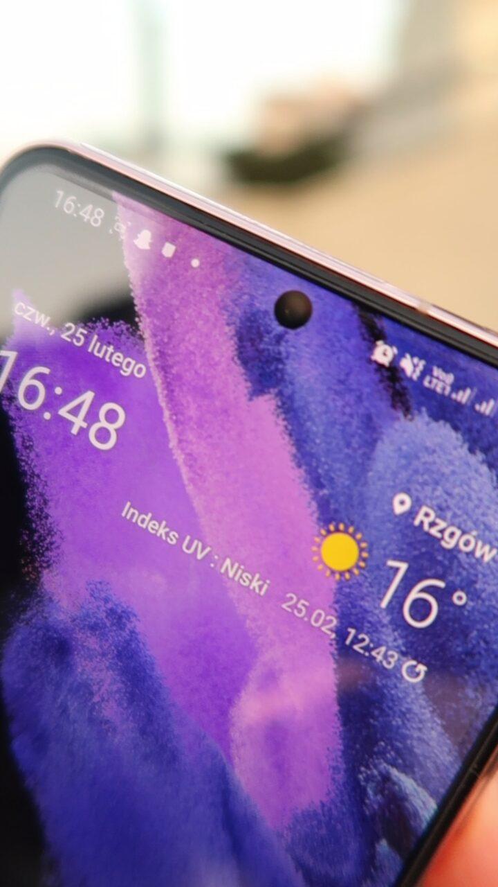 Samsung Galaxy S21 aparat selfie