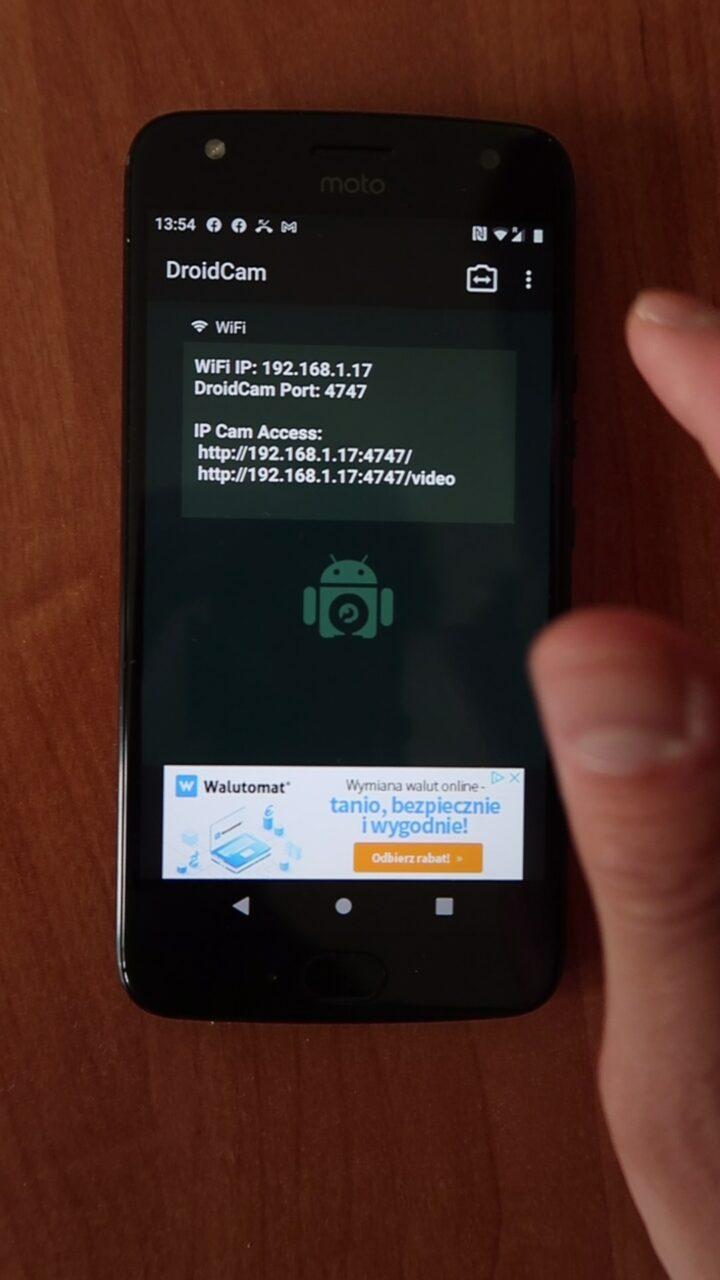 droid cam adres ip kamery