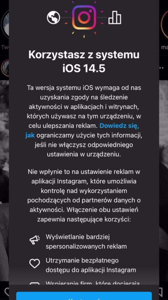 śledzenie w aplikacjach iphone