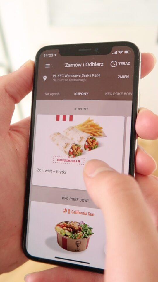błąd aplikacji kfc darmowe jedzenie