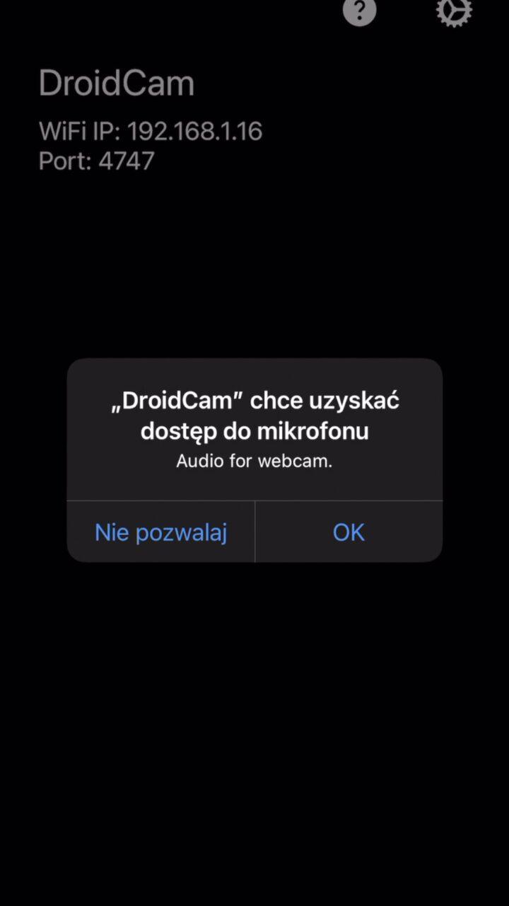 droidcam mikrofon