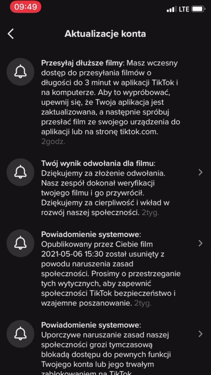 tiktok długie filmy