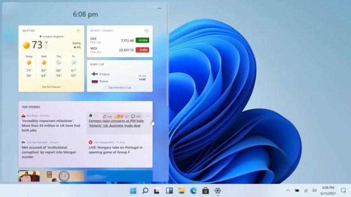 windows 11 widgety