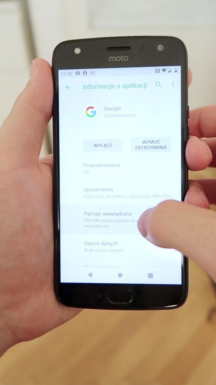 aplikacja google awaria