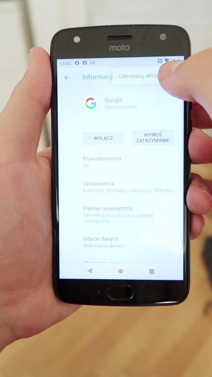 Google wciąż przestaje działać xiaomi