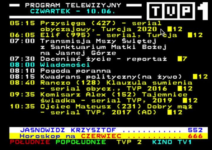 program tv telegazeta