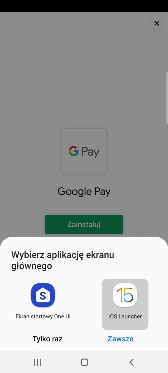 menu iphone na telefon aplikacja