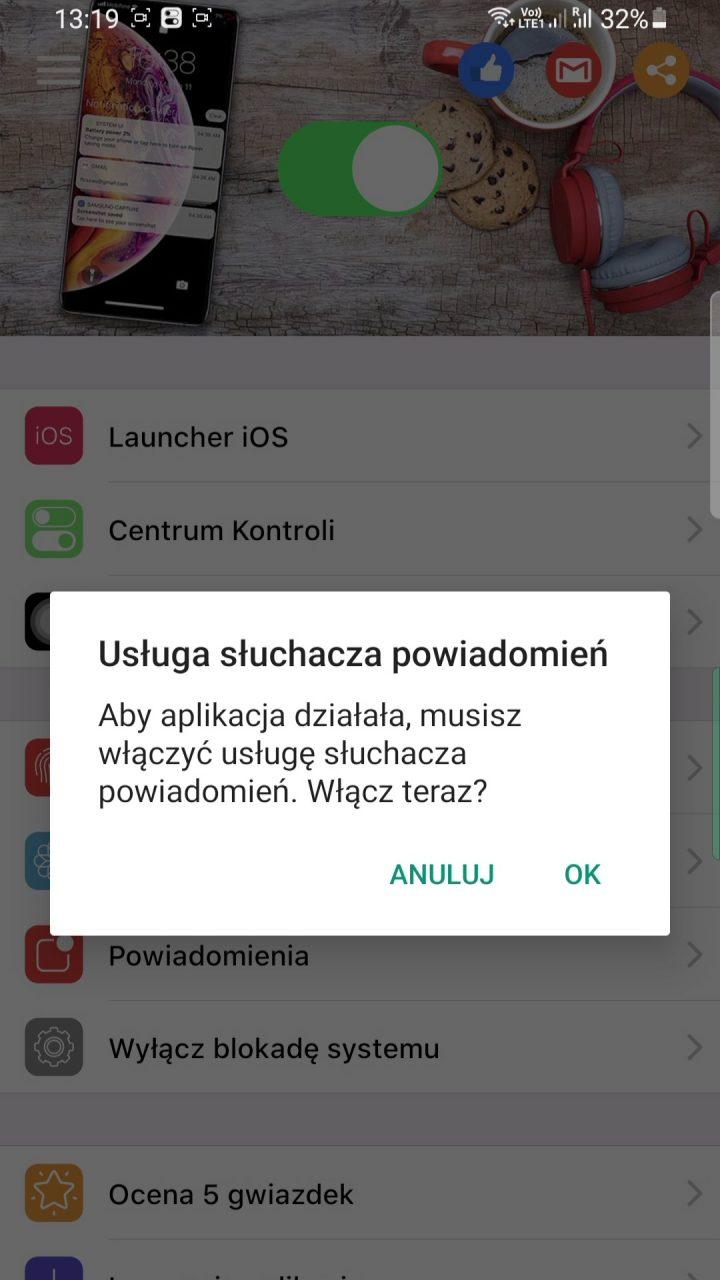 jak zrobić menu z iphone android