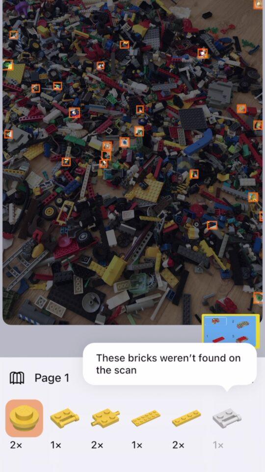 aplikacja rozpoznaje lego