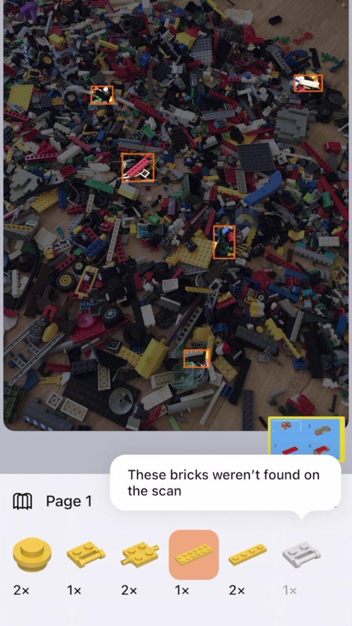 skanowanie klocków lego