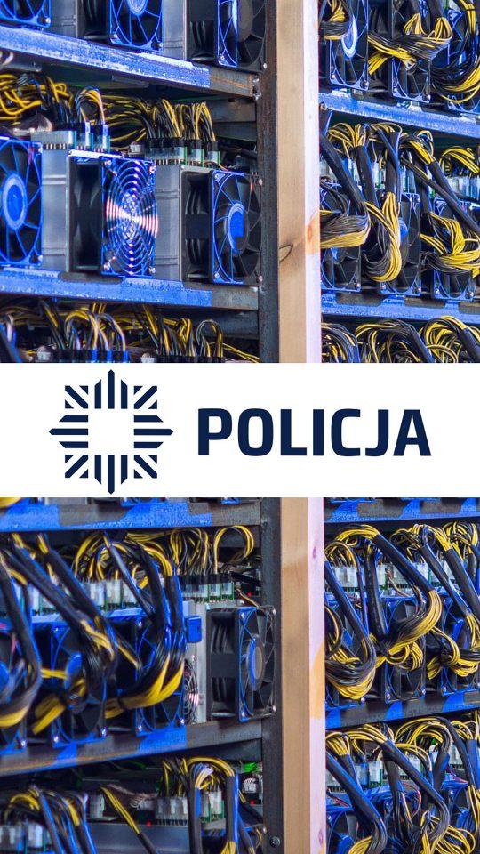 policjant kopał kryptowaluty
