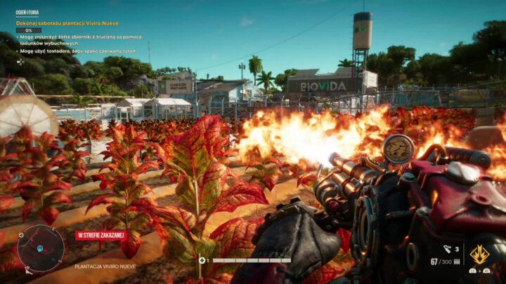 palenie pól tytoniu Far Cry 6