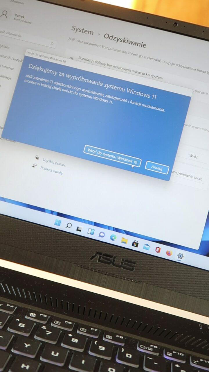 odinstalowanie Windows 11